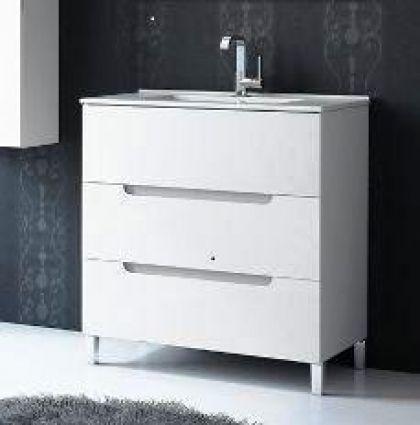 Mueble oval 70x40cm blanco precio rebajado for Saneamientos pereda precios